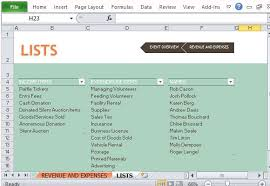 Non Profit Budget Template Excel Fundraiser Event Budget Maker For Excel