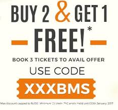 bookmyshow offer bookmyshow buy 2 and get 1 free xxx xander cage movie ticket may