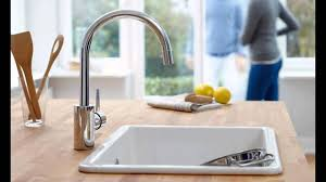 grohe kitchen faucet speed clean anti lime system youtube