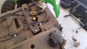 john deere x585 fuel line replacement youtube