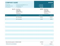 commercial invoice office templates