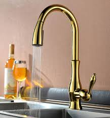 Brushed Brass Kitchen Faucet by Pull Out Kitchen Faucets Faucetsmarket Com Providing Best