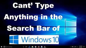 Windows Search Box - can u0027t type in windows 10 search bar two fixes youtube