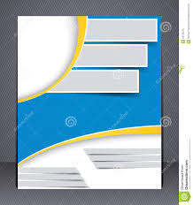 creative brochure templates free brochure design in blue and yellow colors stock vector