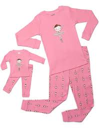 leveret matching doll pajama set top