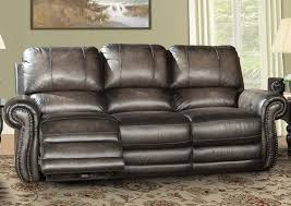 Leather Power Reclining Sofa Underpriced Furniture Thurston Shadow Leather Power Reclining Sofa