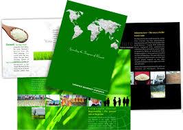 category food brochure design for tirupati basmati exports