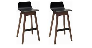 Black Wooden Chair Png 2 X Alana Bar Stools Black Seat And Walnut Legs Wooden Bar Stools