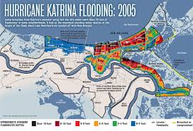 Louisiana Area Code Map by Hurricane Katrina Flooding Compared To A 500 Year Storm Today