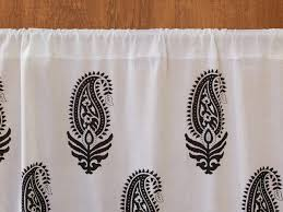 Black And White Paisley Shower Curtain - modern curtain paisley white saffron marigold