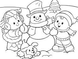cute winter coloring pages kids playing snow in the winter coloring page free coloring pages