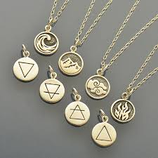 necklace charm designs images Elemental charm necklaces earth air water and fire nina designs jpg