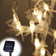 solar powered fairy lights for trees solar power fairy string lights 5m 30 led dragonfly butterfly