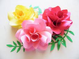 diy paper flower printable templates paper rose pattern svg