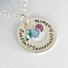 children s birthstone necklace sterling silver birthstone necklace custom personalized