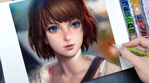 life is strange max watercolor portrait youtube