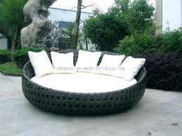 outdoor round couch furniture swings canopy wicker lounge day bed