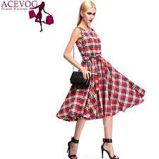 aliexpress com buy acevog brand 2017 summer plaid dress for
