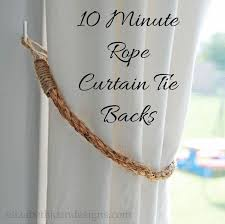 Rope Curtain Tie Back Curtain Tie Backs Rope Www Elderbranch