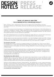 standard design hotel design hotels press release 10 02 2010 miami los angeles new yo
