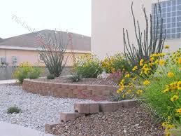 desert front yard retaining wall