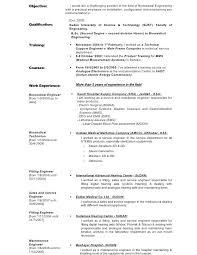 biomedical engineer resume biomedical engineer sle resume service engineer sle