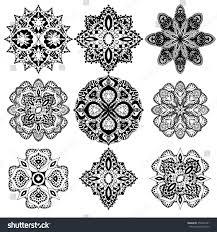 geometric ornaments set had stock vector 356254181