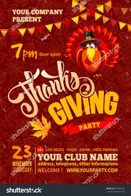 thanksgiving flyer poster template background stock vector