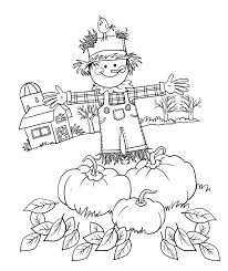 print fall pictures to color scarecrow coloring pages coloring
