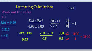 estimating calculations youtube