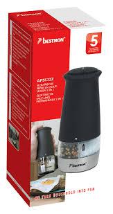 bestron aps532z electric salt and pepper grinder 2 in 1