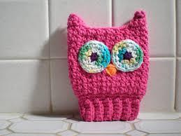 pattern scrubba dubba owl easy crochet children u0027s bath mitt