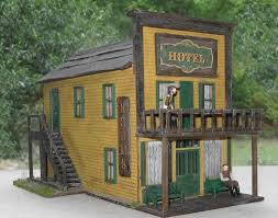 o scale model train building the dodge house from gunsmoke o