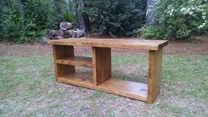 Rustic Oak Bench Rustic Shoe And Boot Bench