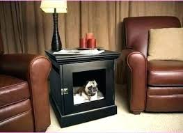 dog kennel side table diy dog crate table willazosienka com