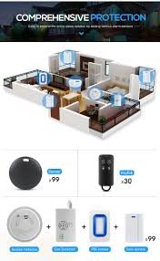 smart design gsm network wireless home security alarm with entry