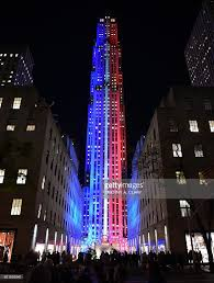 Red And Blue State Map by Rockefeller Center And Rockefeller Plaza Is Lit Up In Red And Blue