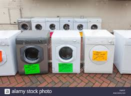 washing machines and second tumble dryers for sale on a