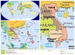 Singapore On Map Vietnam World Stock Illustration Image 83438077 Within On Map