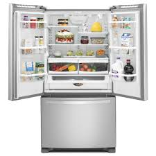 Kitchenaid Counter Depth French Door Refrigerator Stainless Steel - whirlpool 36 in w 20 0 cu ft french door refrigerator in