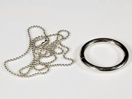 metal ring necklace images Ring on a chain trick jpg