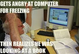 Man On Computer Meme - old man angry at a computer funny lmao lol meme book funny