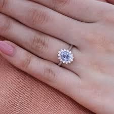 light blue rings images Natural aqua blue sapphire ring in 14k white gold diamond cluster jpg