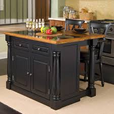 Kitchen Island With Pull Out Table Amazon Com Home Styles Monarch Slide Out Leg Kitchen Island With