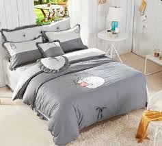 Grey Quilted Comforter Online Shop 100 Cotton Cute Totoro Bed Sets Comforter Sets Grey