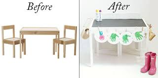 ikea craft table hack ikea hack kids table diy projects style your senses