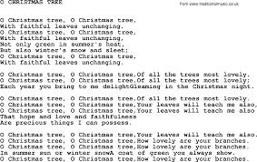 johnny cash song o christmas tree lyrics