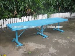Steel Garden Bench Outdoor Backless Patio Bench Perforated Metal Garden Bench Buy