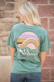 Comfort Colors Shirts Oklahoma Sunset F B Short Sleeve Comfort Colors T Shirt Light