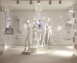 avr white led display cabinet lighting at chopard jewellery shop